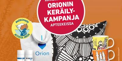 Orionin keräilykampanja käynnissä 28.9.2020-3.1.2021