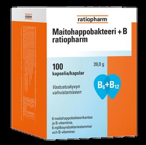 Maitohappobakteeri +B Ratiopharm 19,90€