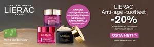 Kahden Lierac Anti Age -tuotteen ostajalle Hydragenist balsami sekä Anti Age -tuotteet -20%