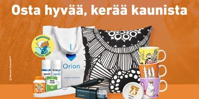 Orionin keräilykampanja on taas täällä!
