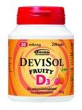 DEVISOL FRUITY 20 MIKROG IMESKELYTABLETTI (1 × 200kpl)