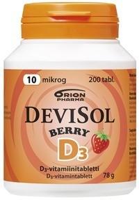 Devisol Berry 10 mikrog tabl (200 kpl)