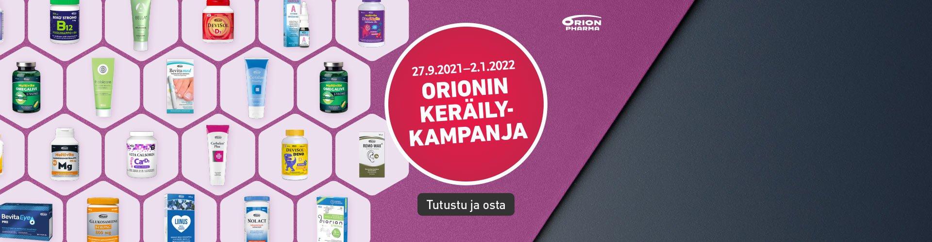 Orionin keräilykampanja apteekissa