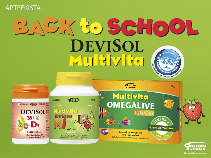 Back to school paluu arkeen multivita devisol