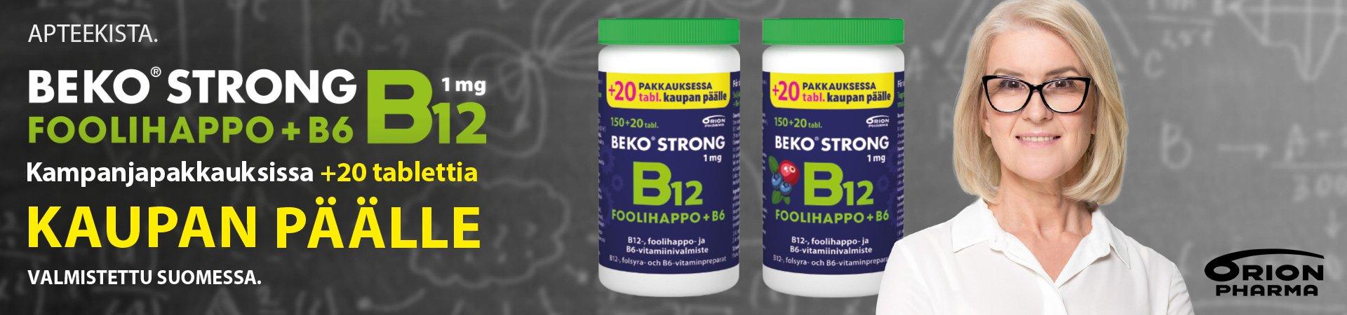 beko Strong kampanjakoko 20 tablettia kaupan päälle