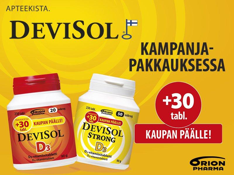Devisol +30 tablettia kaupan päälle