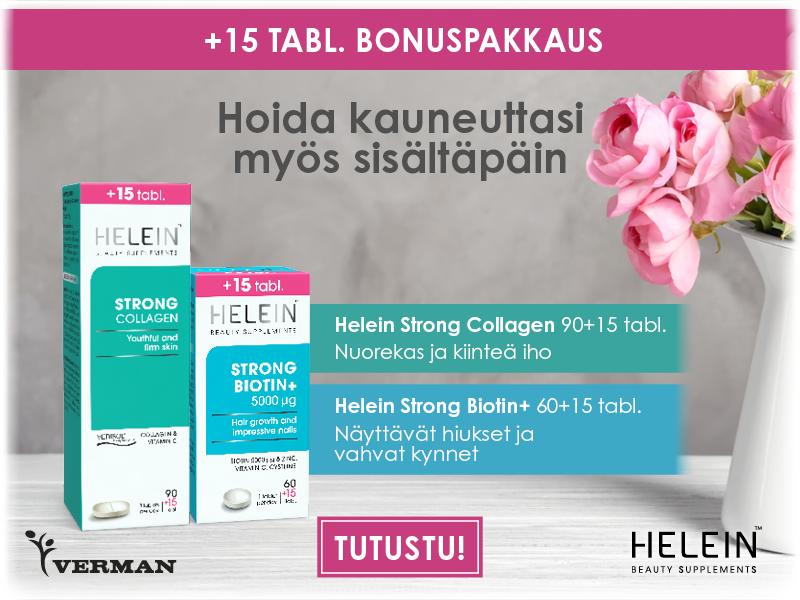 Helein strong biotin ja collagen bonuspakkaus