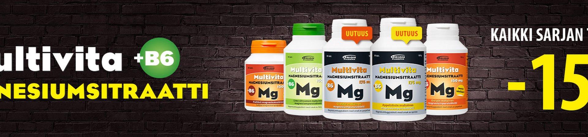 Multivita magnesiumsitraatti -15%
