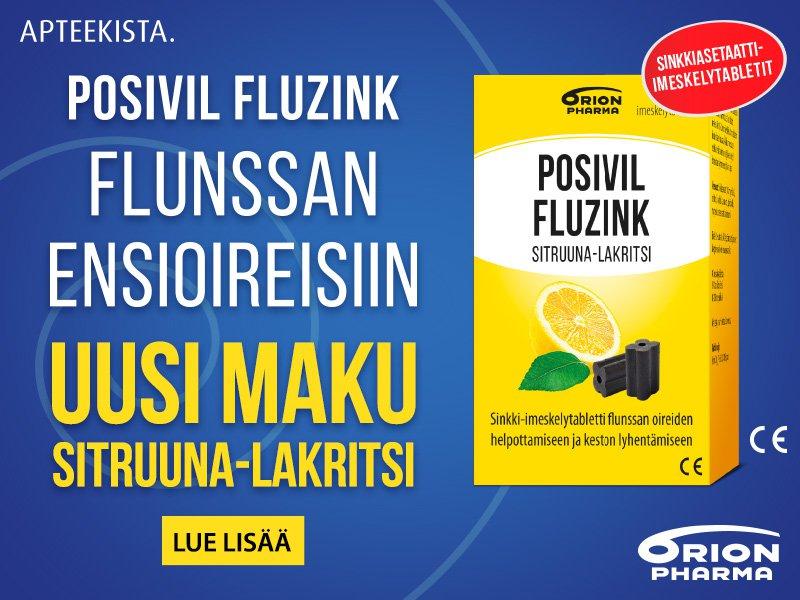 Posiivil Fluzink uutuusmaku