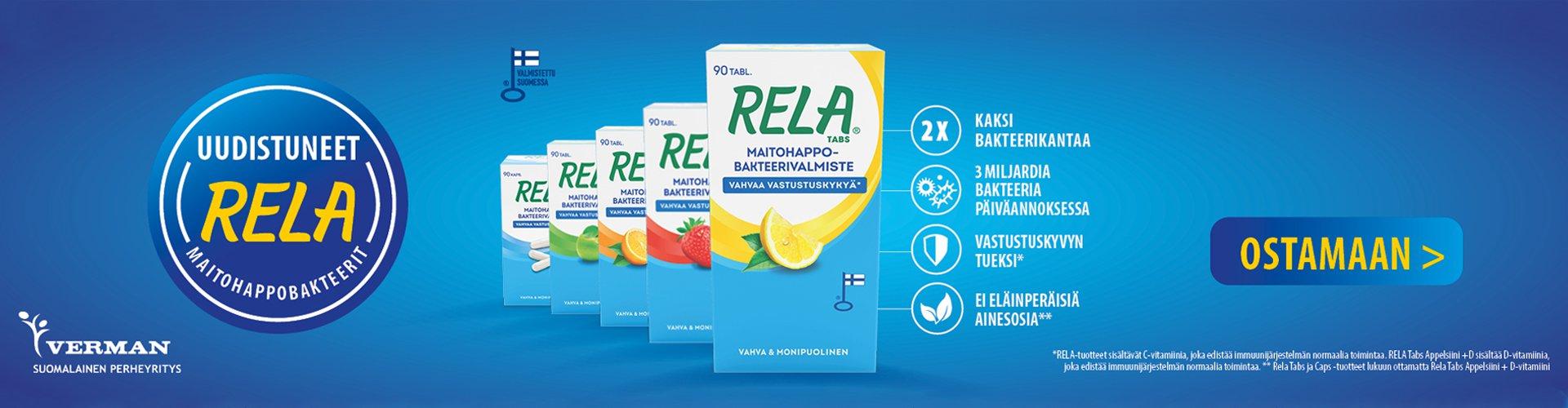 Uudistunut Rela maitohappobakteeri