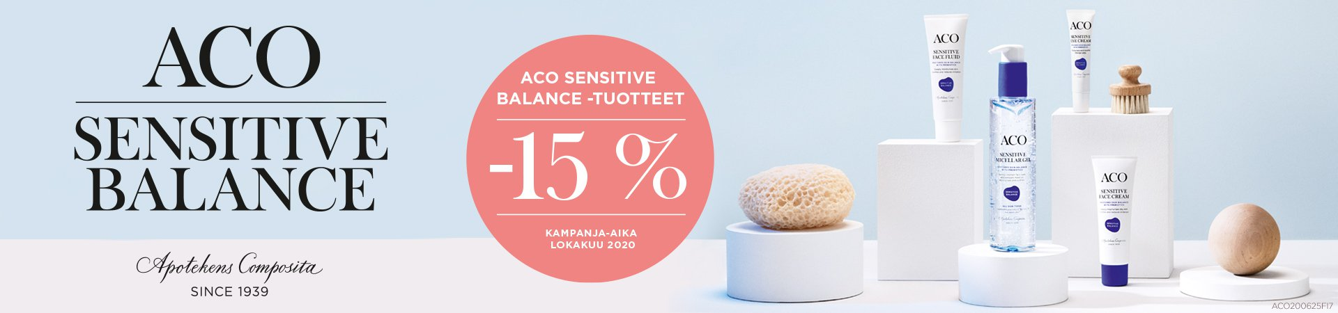 Aco sensitive balance lokakuussa -15%