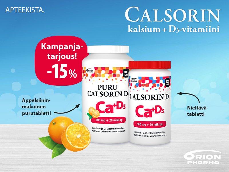 Calsorin -15 % kampanja