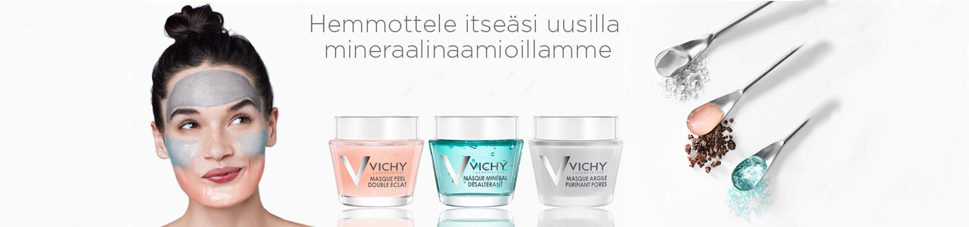 Vichy, naamio, mineraali, iho, kauneus, apeekkikosmetiikka, purete thermale