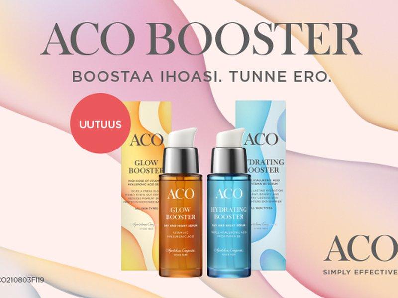 Uutuus! Aco boosters - runsaasti aktiiviaineita sisältävät seerumit!
