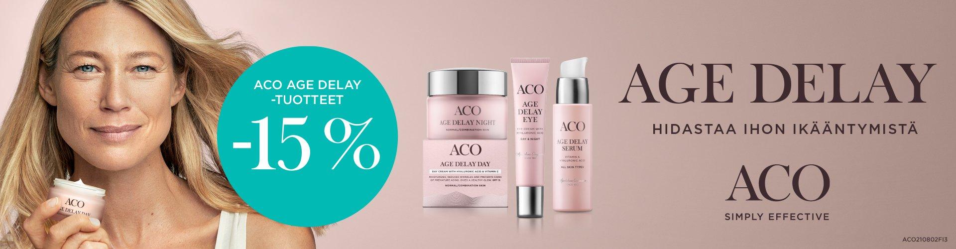 Aco Age Delay -tuotteet -15%
