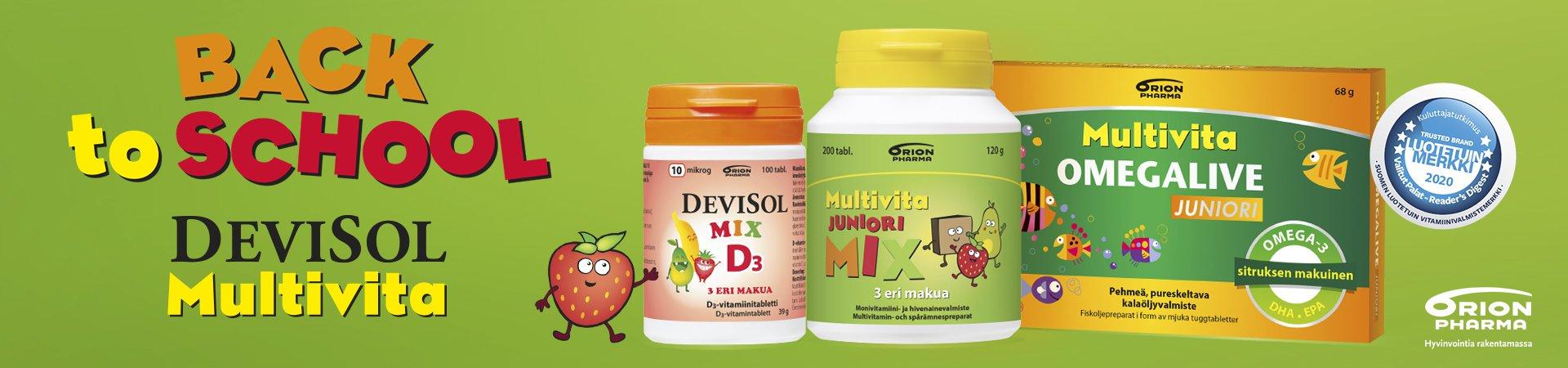 Back to school - Muista hakea arjen vitamiinit apteekista!