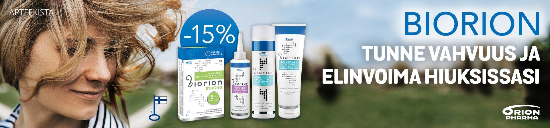 Biorion -tuotteet -15% huhtikuun ajan!