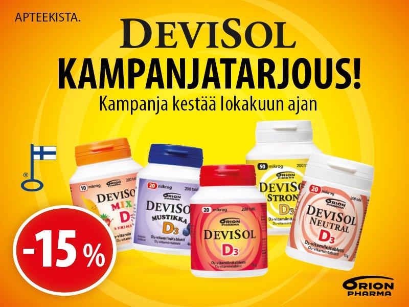 DeviSol -suosikit -15%