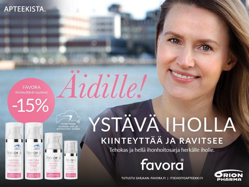 Favora kiinteyttävät tuotteet äidille -15%