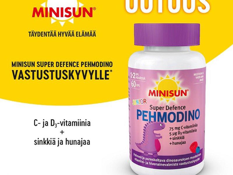 Uutuustuote! Minisun Pehmodino Super Defence 60 kpl