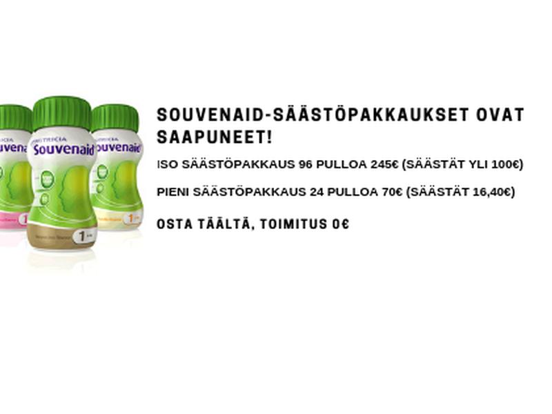 Osta Souvenaid-säästöpakkaus ja säästät yli 100€.
