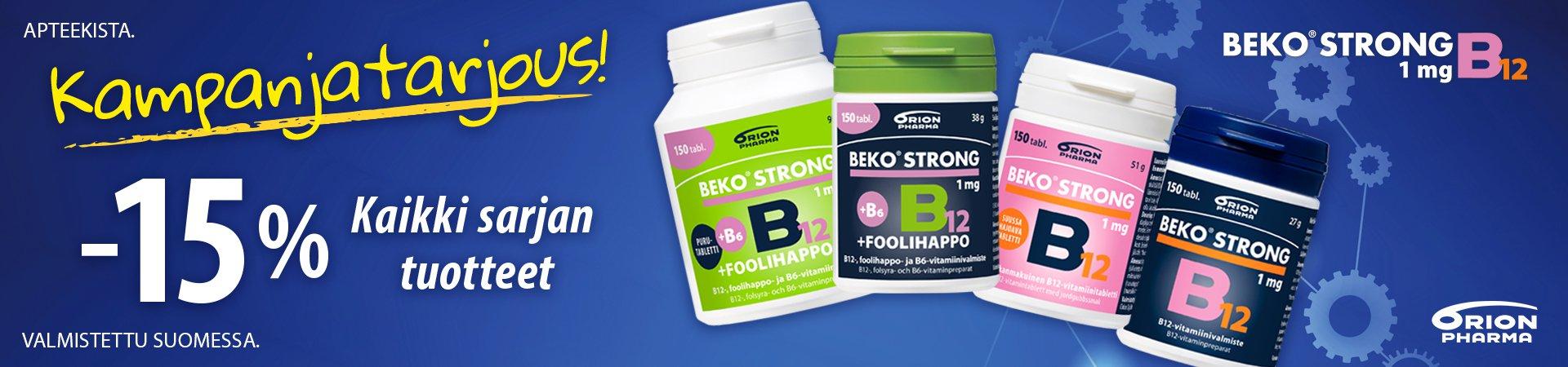 Beko strong sarja -15% maaliskuu 2019