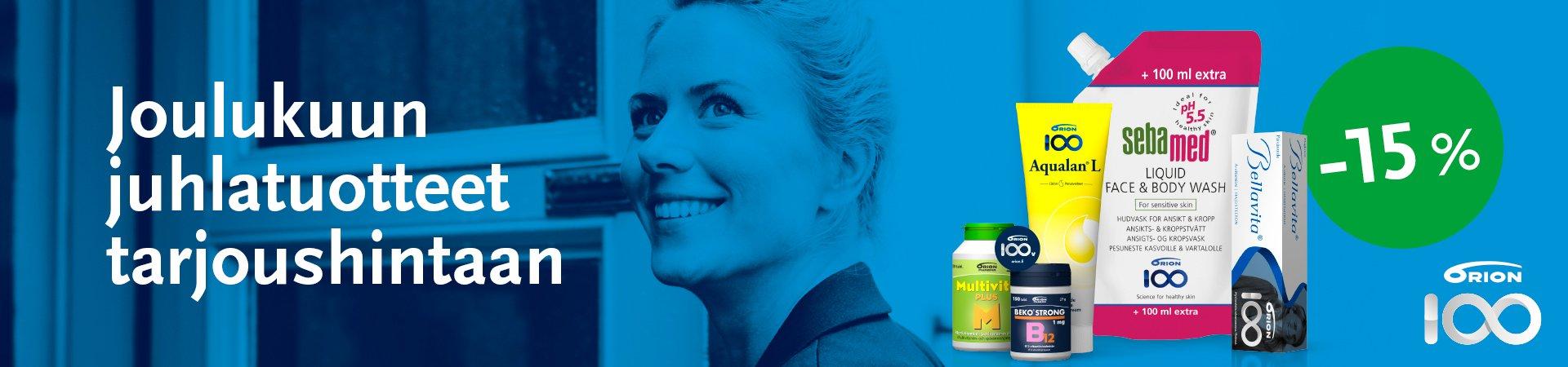 Orion keräilykampanjan palkinto ilmainen apteekki tuotesetti