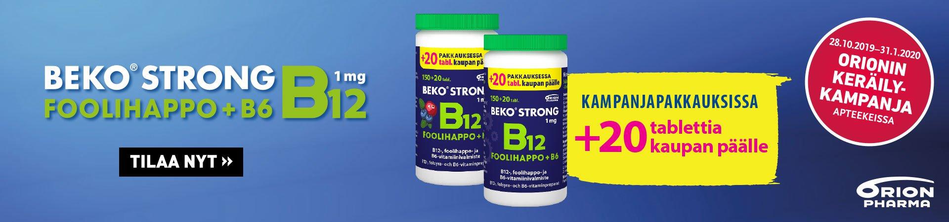 Beko Strong B12 +foolihappo 20 tabl. kaupan päälle marraskuussa