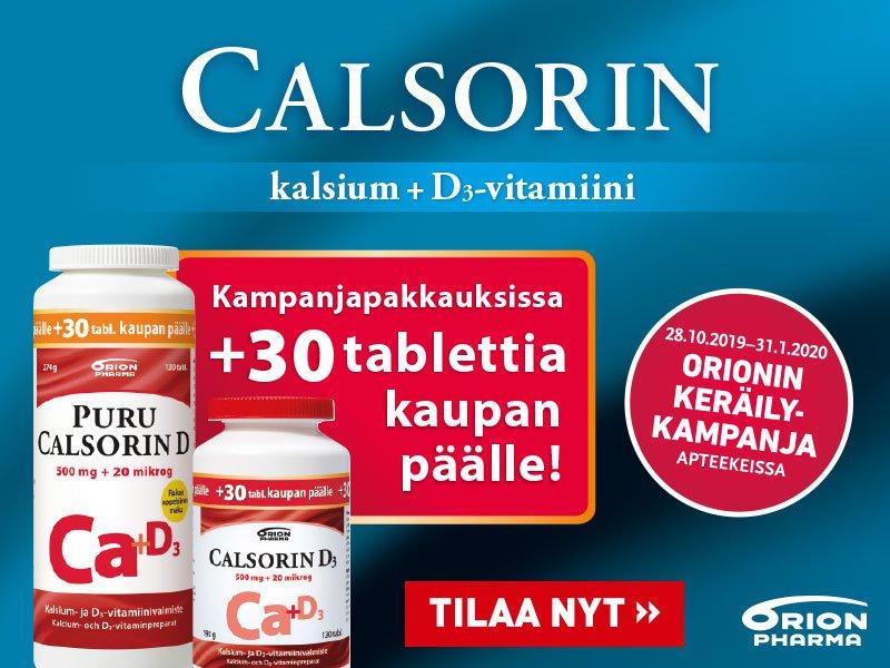 Calsorin 30 tabl. kaupan päälle marraskuussa