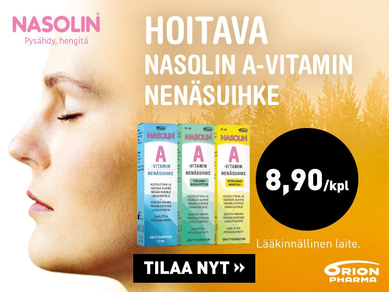 nasolin a-vitamiini nenäsuihke