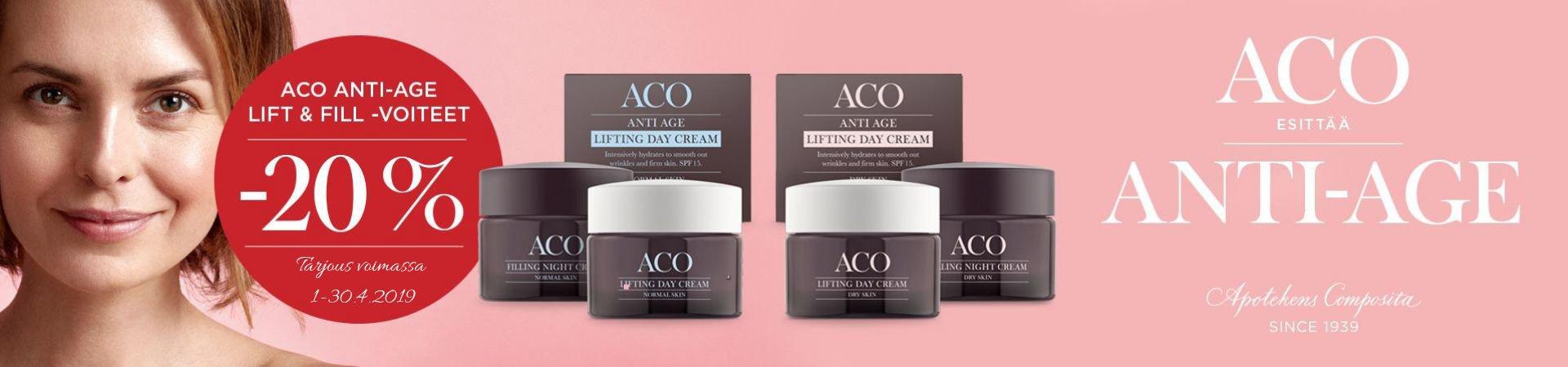 Aco Anti Age tarjous huhtikuu 2019