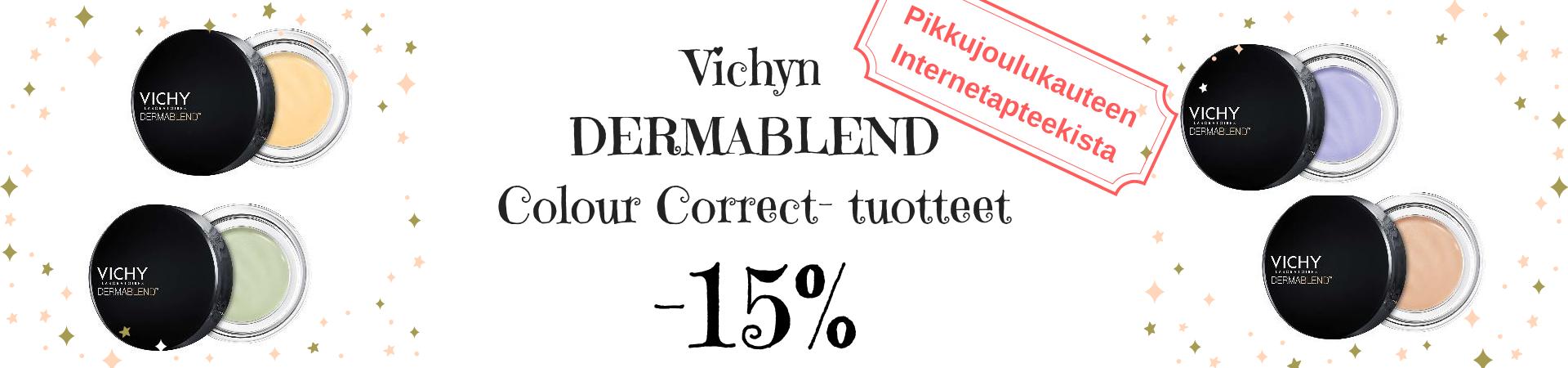 Vichy Dermablend  Color Correction peitevärit -15 %
