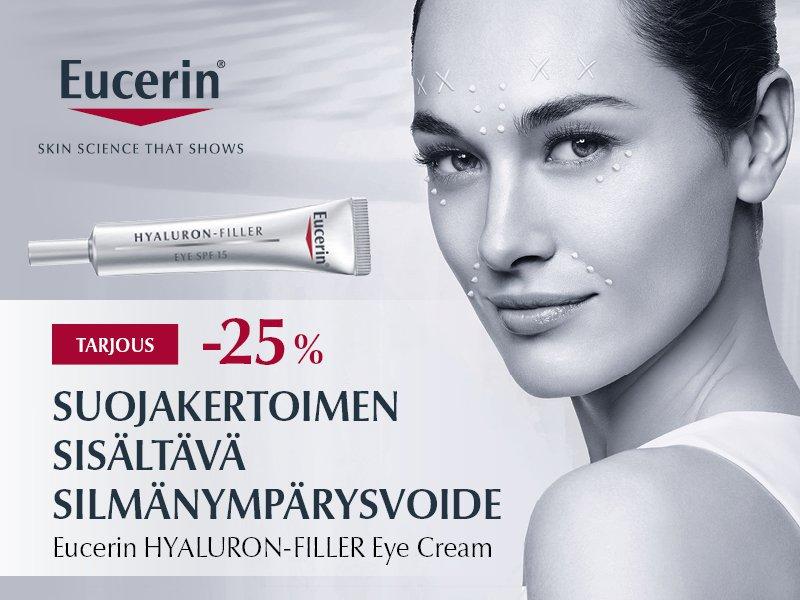 Eucerin silmänympärys suojakertoimella tarjous kesäkuu20