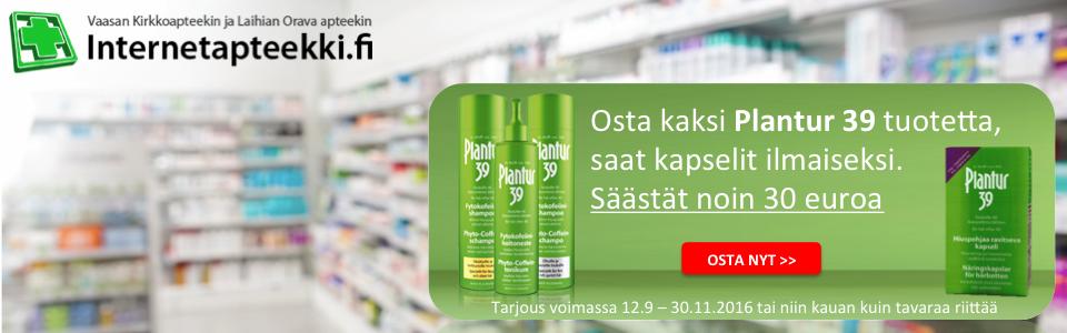 Internetapteekki.fi Osta kaksi Plantur 39 tuotetta saat kapselit ilmaiseksi