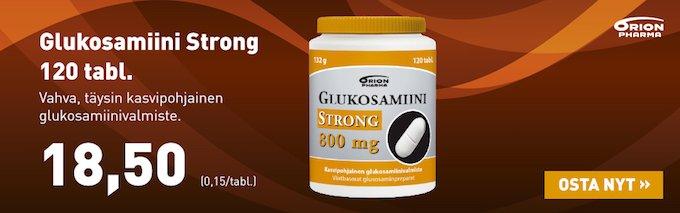 Glukosamiini Strong 800mg nyt vain 18,50€ Internetapteekista