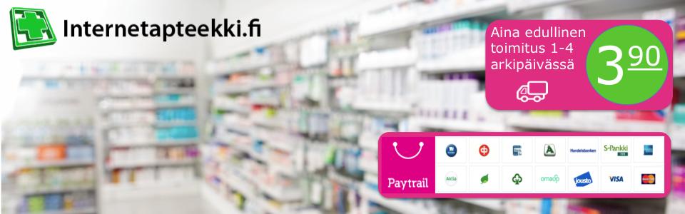 Nopea toimitus vain 3,90€ Maksut turvallisesti ja helposti verkkopankkitunnuksilla tai luottokortilla