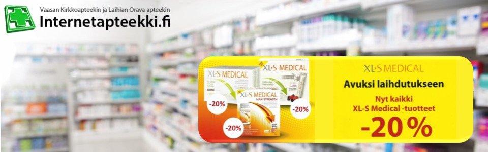 Internetapteekki.fi XL-S Medical tuotteet -20%