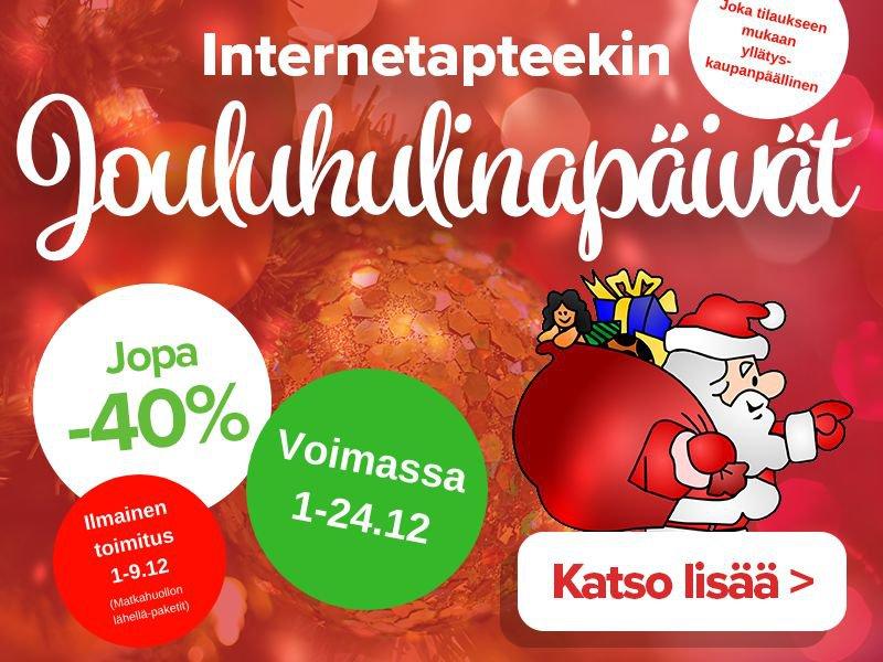 Jouluhulinpäivät ilmainen toimitusmaksu 1.-9-12