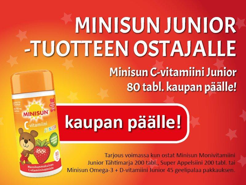 Minisun Junior C-vitamiini kaupan päälle