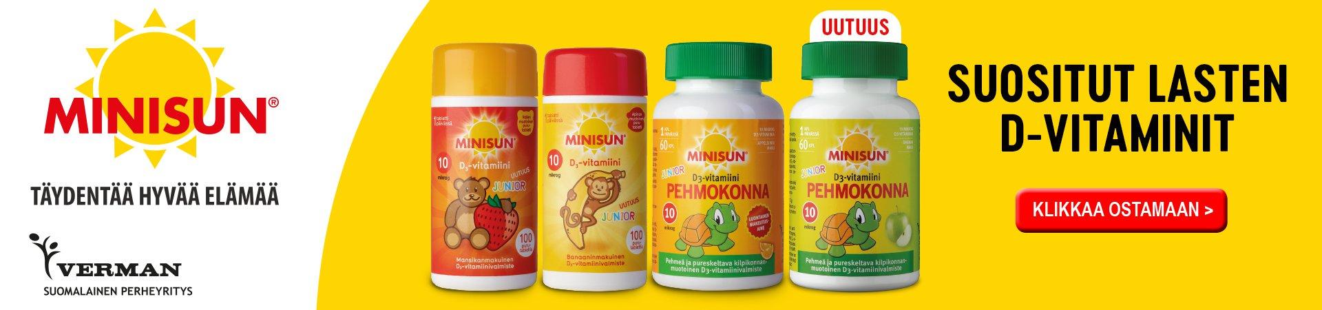 Minisun lasten vitamiinit