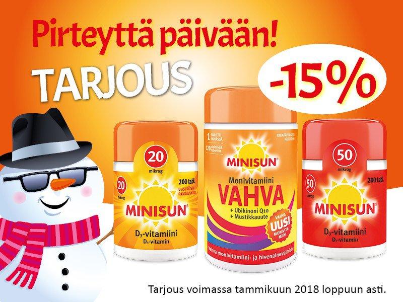 Minisun vitamiinit -15 %