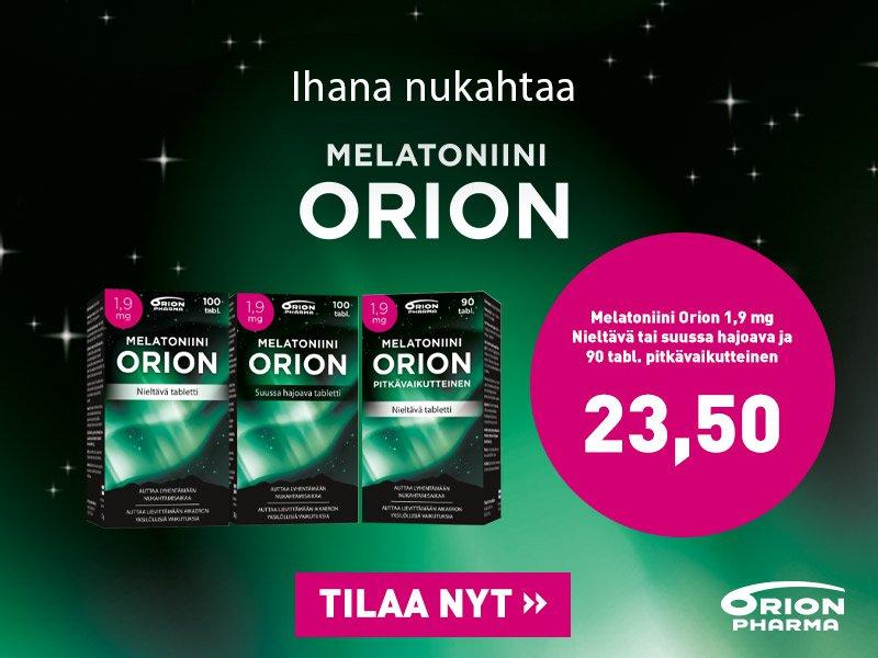 Orionin melatoniini tarjous