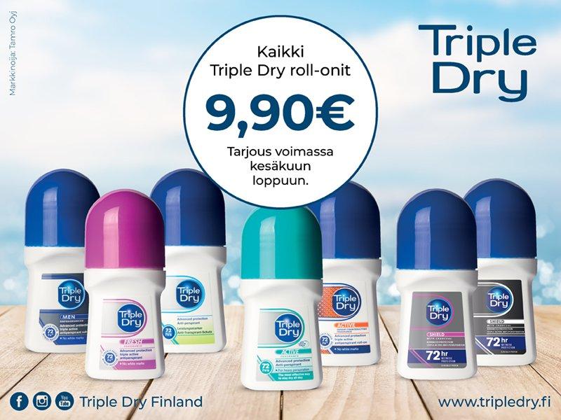 triple dry tarjous kesäkuu