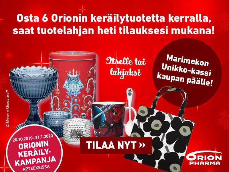 Orionin keräilykampanja - Joulu 2019
