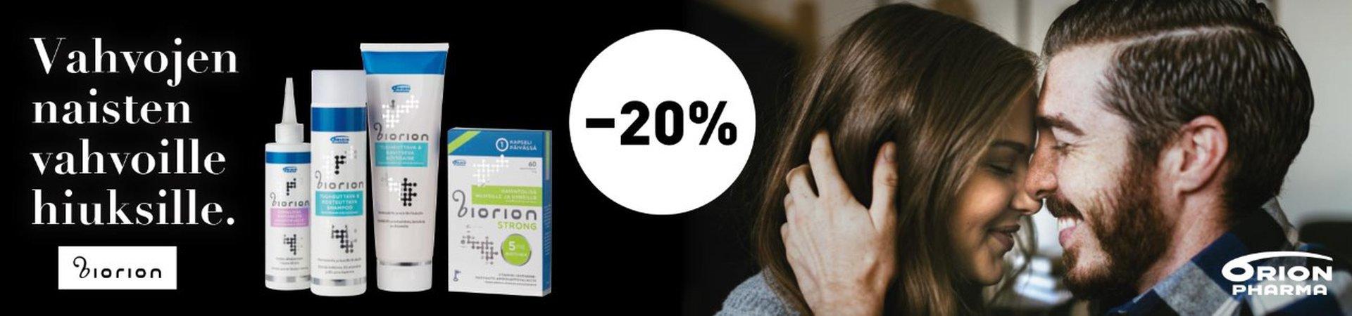 Biorion -20 % helmikuu 20