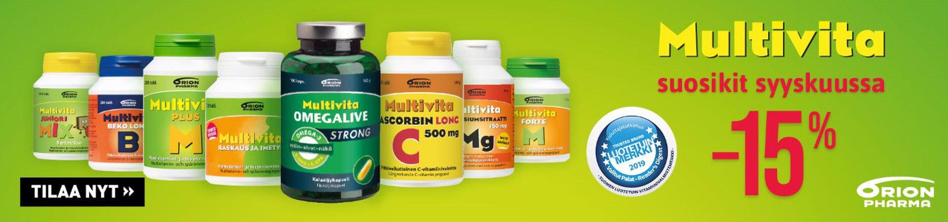 Multivita -tuotteet syyskuu19