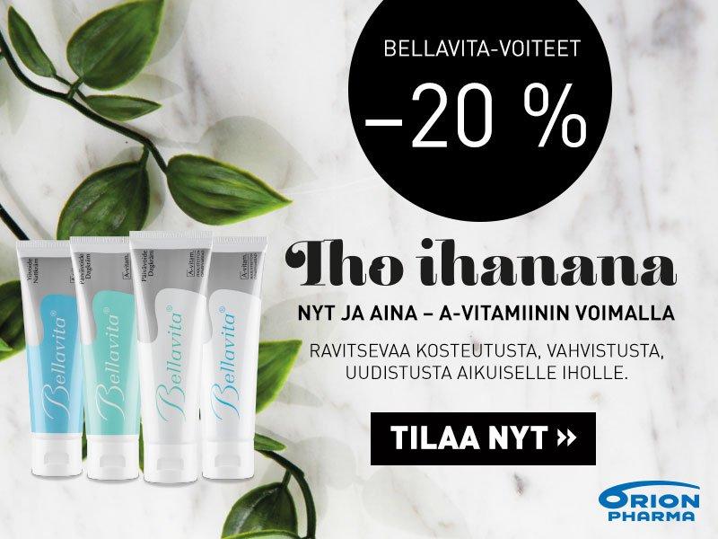 Bellavita -voiteet -20 % huhtikuussa äitienpäivään asti