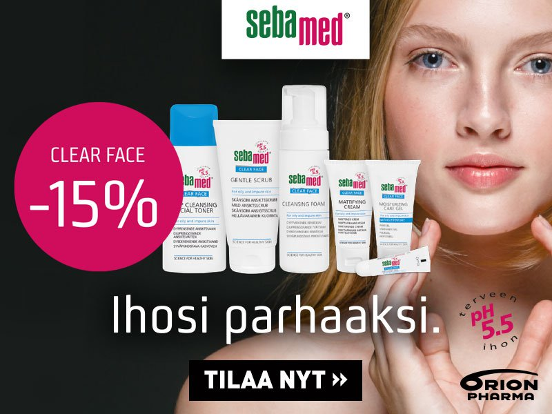 Sebamed clear face elokuussa -15 %