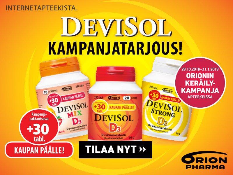 Devisol D-vitamiinit tammikuu
