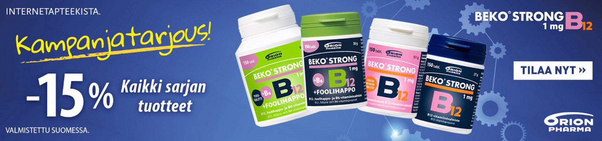 Beko Strong B12 -15 % maaliskuussa